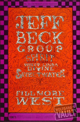 Jeff Beck Group, Filmore West
